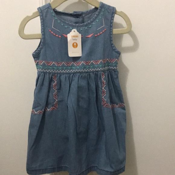 Carter's Other - NWT 'Southwestern' denim dress w/bloomers (12-18m)